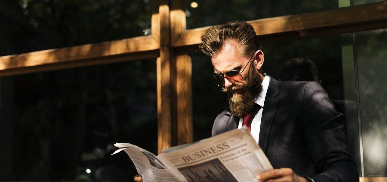 Bart zum Business Anzug